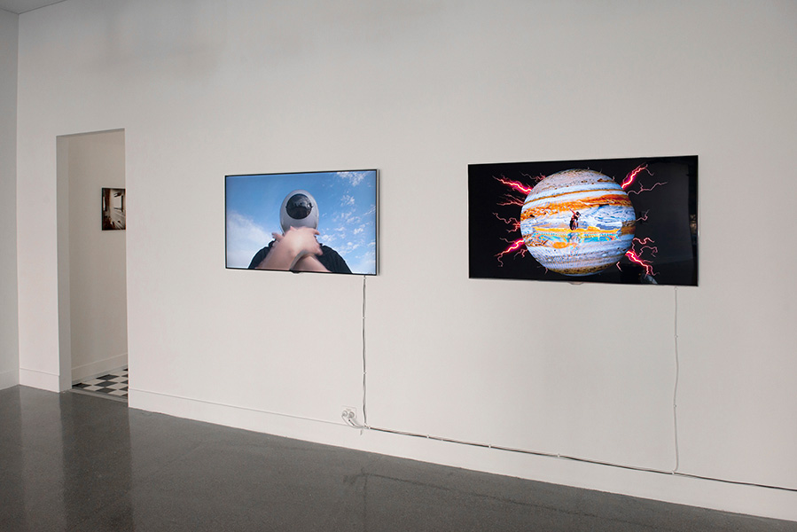 Neon Kohkom, (L)  Flattened + Confused,  2014, (R)  Sketch 3, 2014