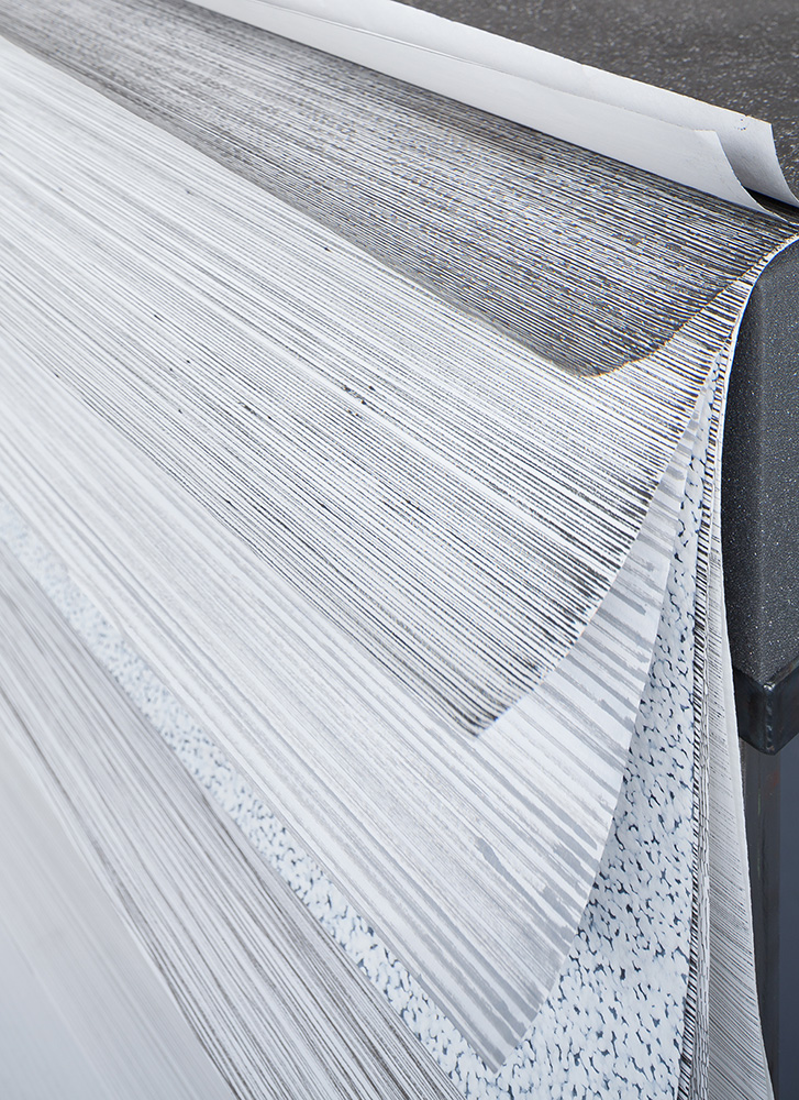 Ines Hochgerner,  Untitled  (detail), 2013, Drawings, foam material, leather, metal, Approx. 100 x 200 x 90 cm, photo by Rudolf Strobl