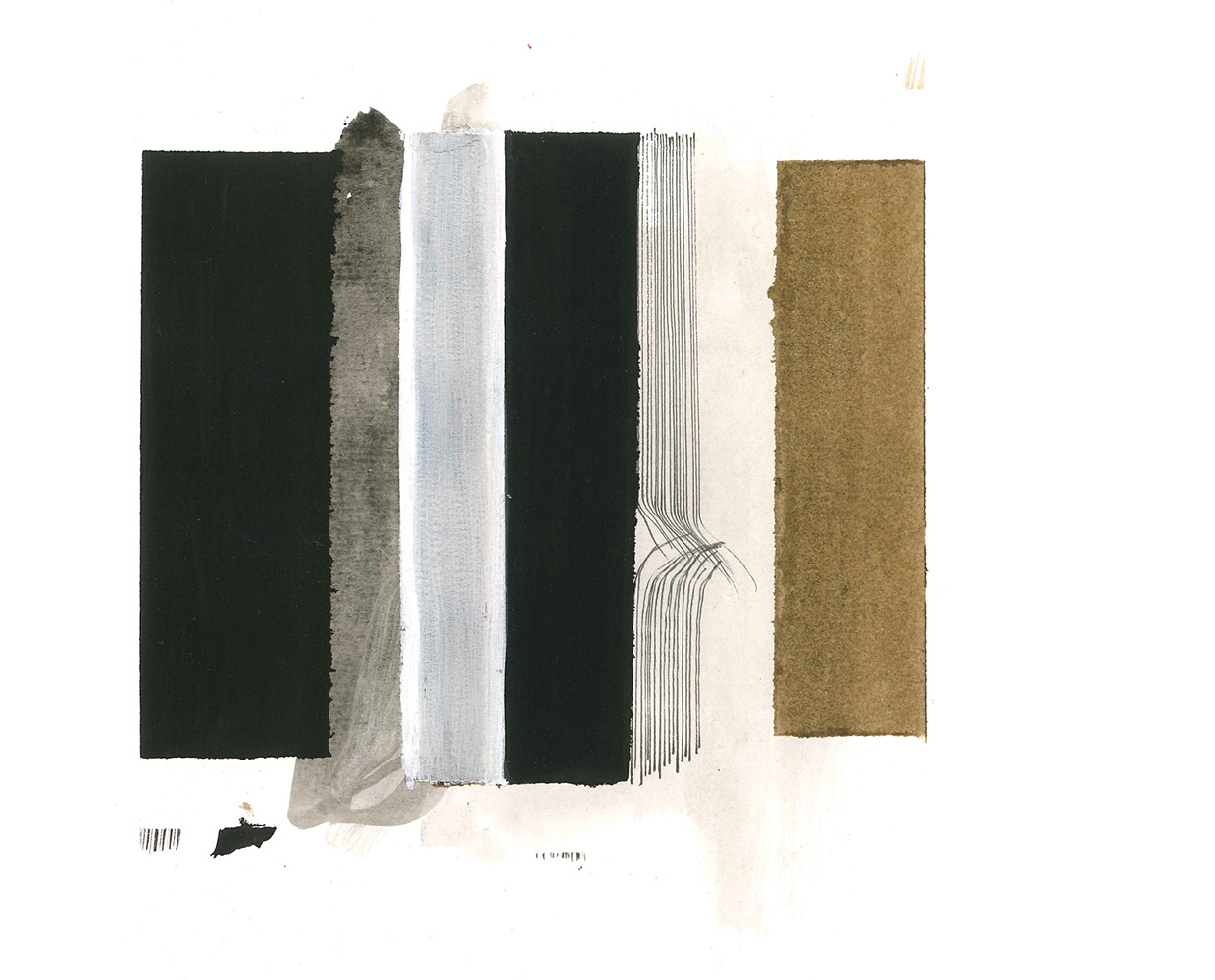 Ines Hochgerner,  Untitled,  2014, mixed media on paper, 21x15cm