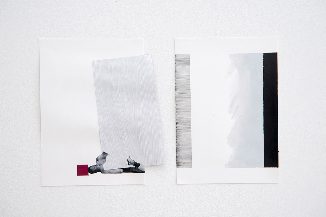 Ines Hochgerner ,Body Building Series,  2014, Mixed Media on Paper, Series of ten works sized approximately 23 x 16 cm