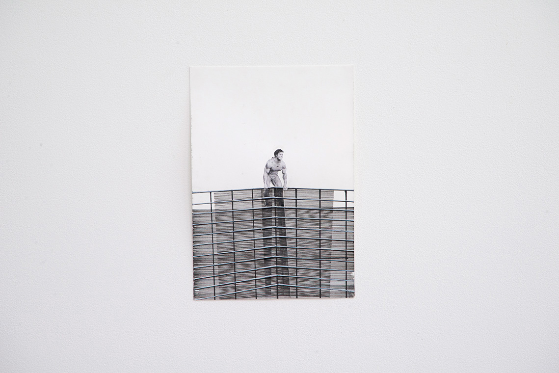 Ines Hochgerner ,Body Building Series,  2014,Mixed Media on Paper, Series of ten works sized approximately 23 x 16 cm