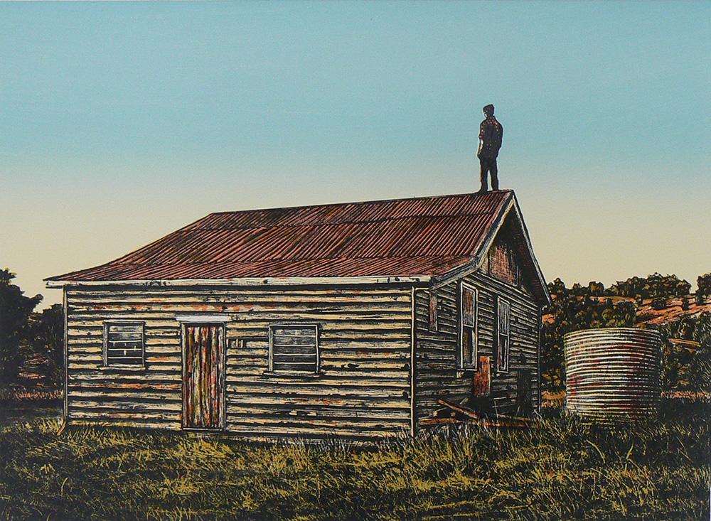 David Fazer,  Lonely boy II , 2011, Lithograph, 29.5 x 40cm