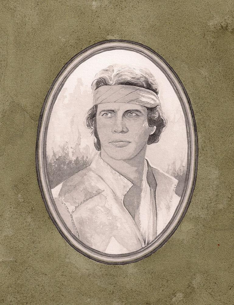 Paul Compton,  Klinton Spilsbury,  2012, Ink and pencil on paper, 14.9 x 20.1 cm