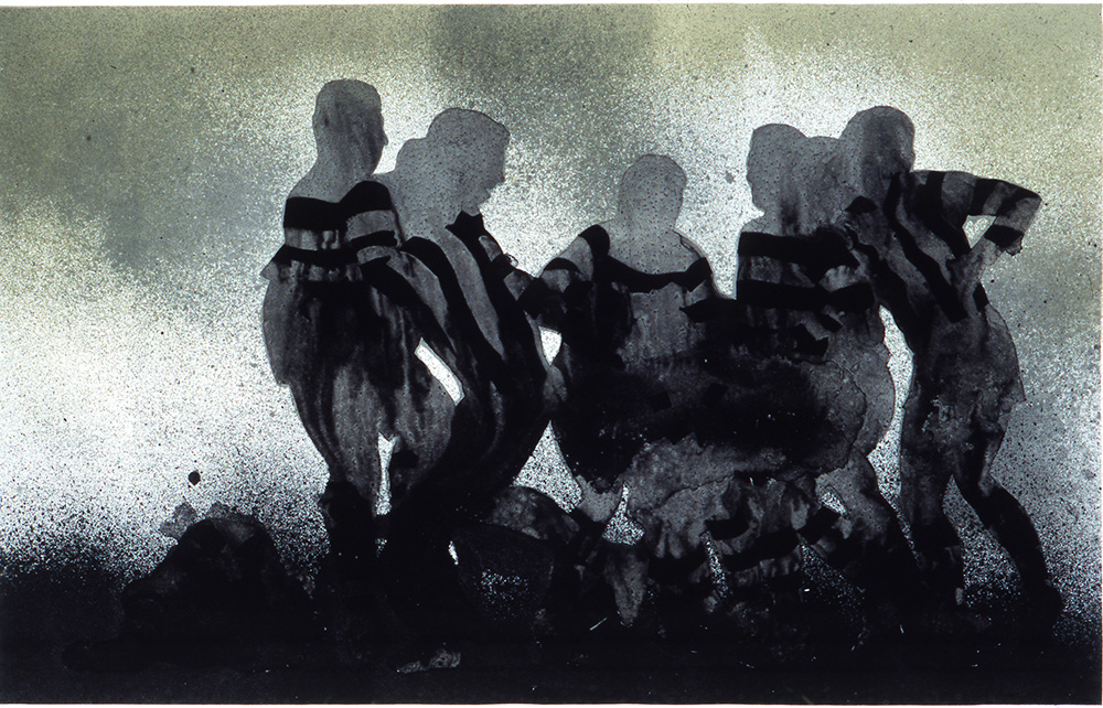 Jim Pavlidis,  Down Behind Play, 2001, Lithograph, 70 x 100cm