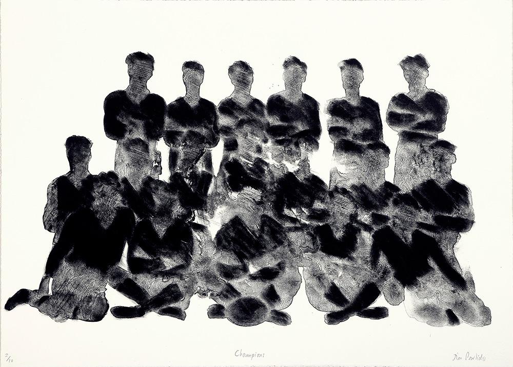 Jim Pavlidis, Champions  2009, Lithograph, 50 x 70cm