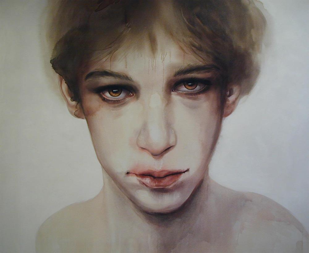 Cherry Hood, Seyden, 2004, Watercolour paint on canvas, 1.8 x 2.3m