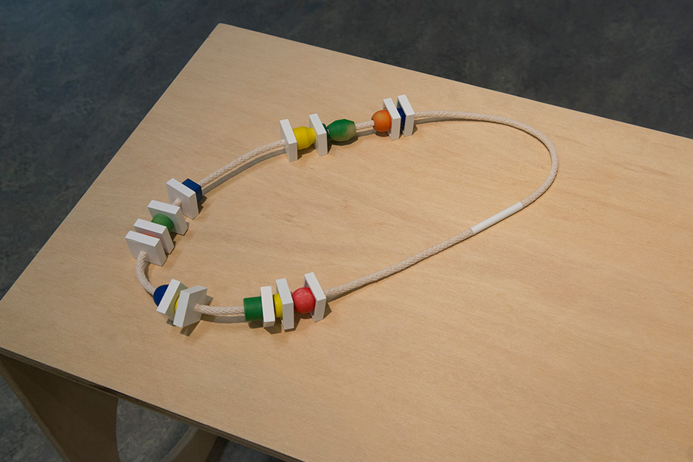 Allona Goren, Untitled ,2014, thermoformed plastic, wood, resin, beads