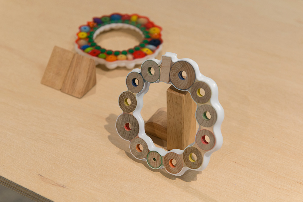 Allona Goren, Untitled , 2014, thermoformed plastic, wood, resin, beads