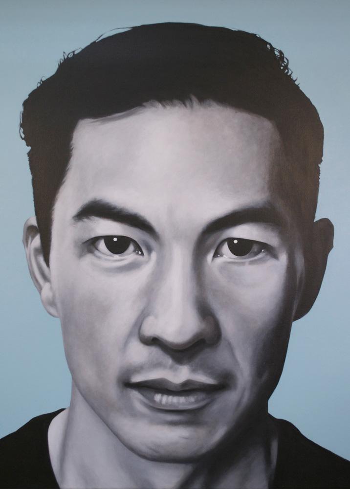 Kay Mei Ling Beadman,  Ancestor II , 2013, acrylic on canvas