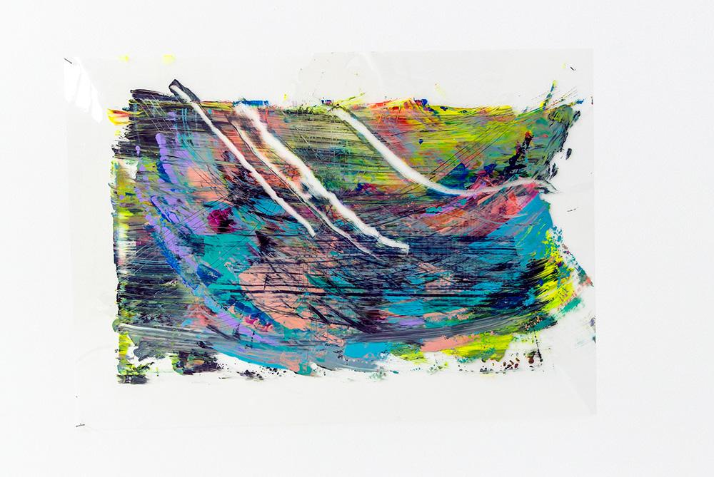 Danielle Reynolds,  Untitled , 2013, Acrylic on Acetate