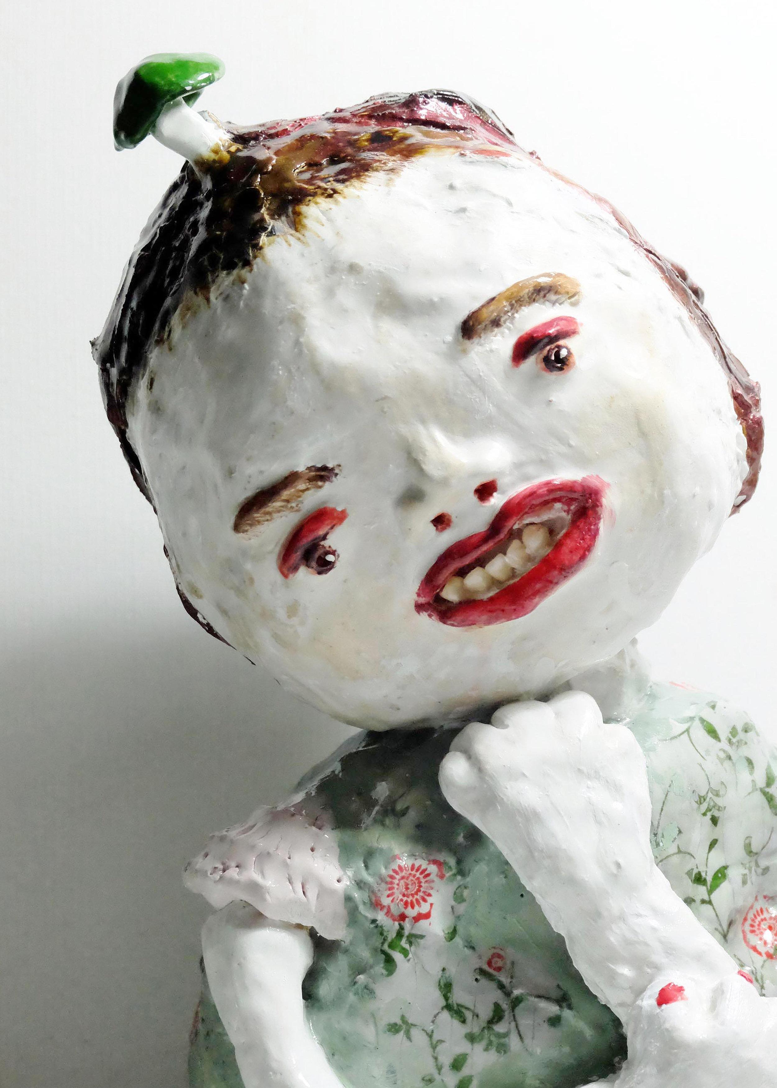 Pat Chong Kwan Ting,  Long-awaited - True Love,  2016, Glazed ceramics, 12 x 5 x 3 cm