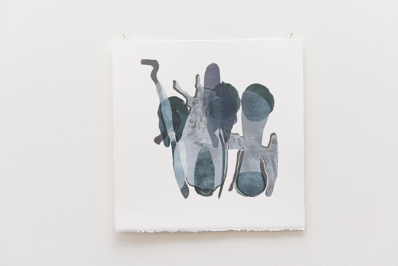 Deb Taylor,  Untitled print 14,  2017, printing ink on paper, 30 x 30 cm