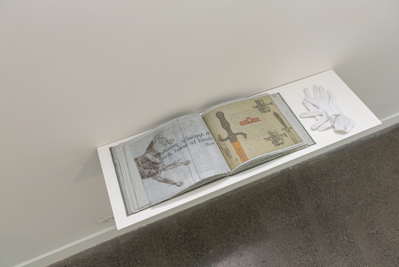 Jazmina Cininas,  WHO'S AFRAID OF THE BIG BAD WOLF?  1996, artist book, 25.2 x 33.2 x 2.7 cm. Courtesy of Australian Print Workshop
