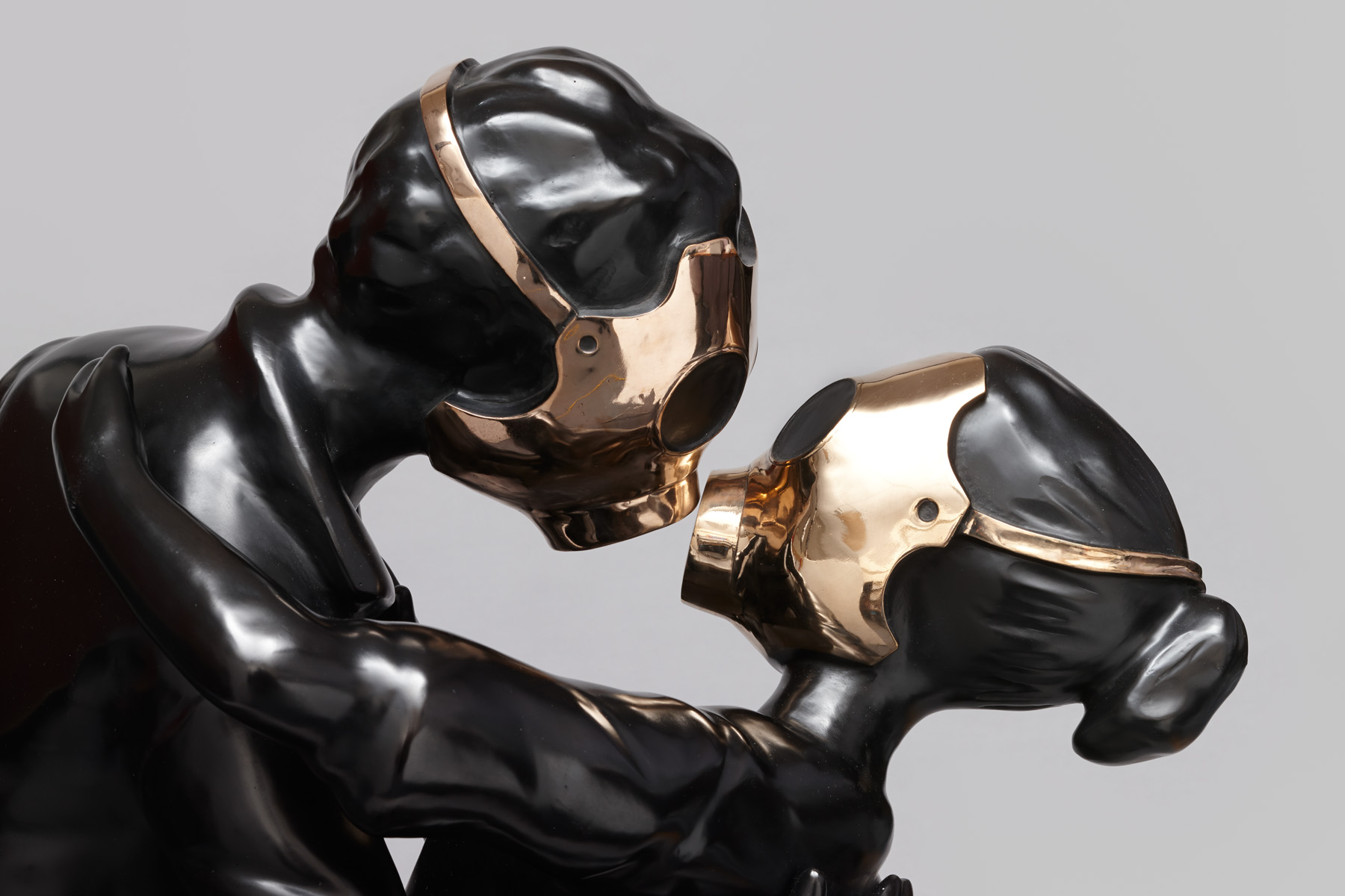Penny Byrne,  Love is a Battlefield , 2013, Bronze with Satin Black Patina, 1000 x 700 x 700 mm
