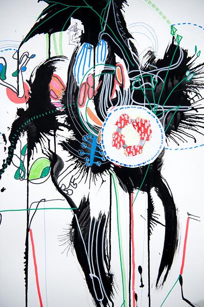 Nicholas Dallwitz,  Numen Botanical 1 , 2011 Ink and mixed media on paper, 86 x 122 cm