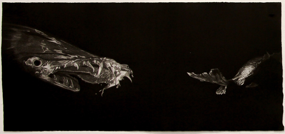 Nicole Macdonald,  Lurking #1,  2010, Intaglio print