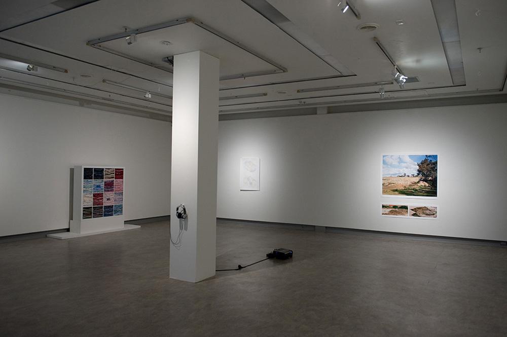 Exhibition installation, Caitlin Telford, Yuria Okamura, Kelvin Skewes and Lizzie Pogson (sound)