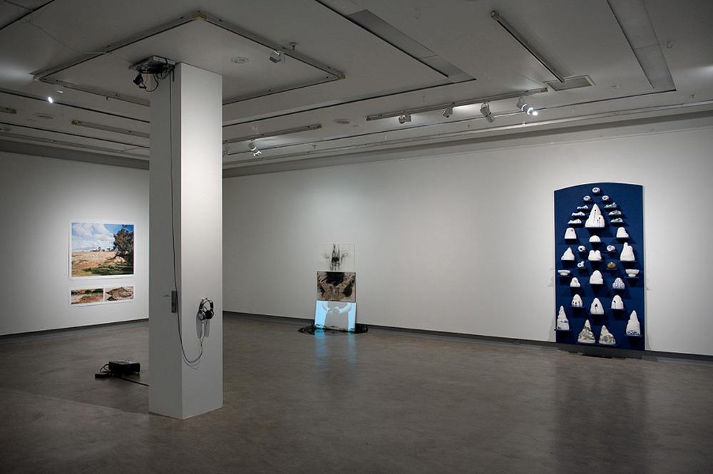 >Exhibition installation, Kelvin Skewes, Sean Crossley, Robyn Phelan and Lizzie Pogson (sound)