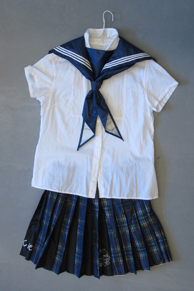 """Jaffa Lam,  School uniform from the sex shop in Tokyo,  2010. Part of work for Detour, """"Guilty or not""""exchange between Hong Kong and Tokyo designers. From the series Micro Economy."""