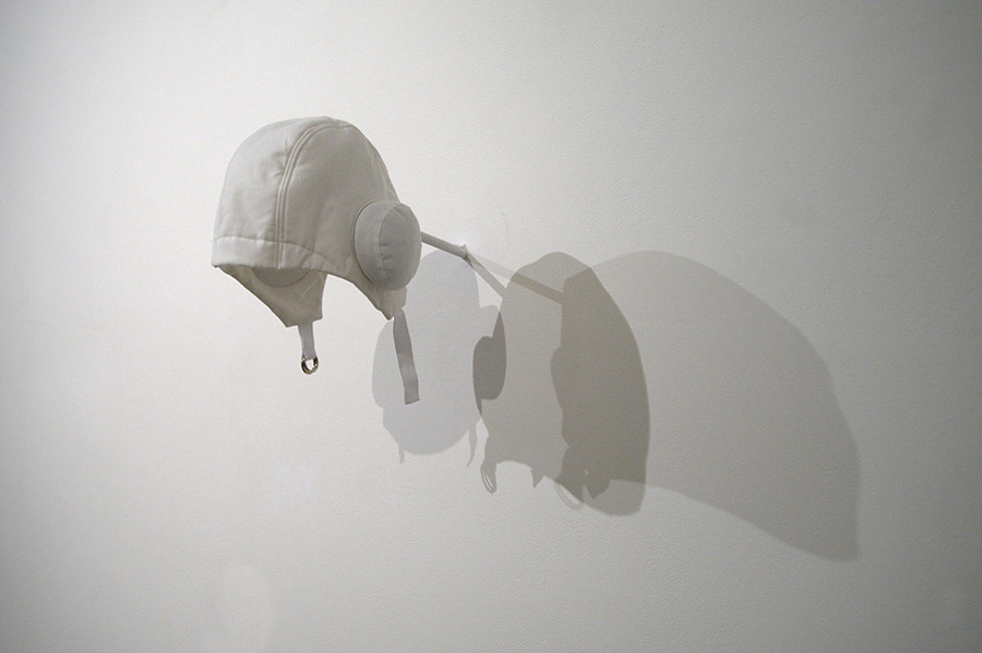 Kirsty Lillico,  Cloth Ear , 2009, Cotton fabric, woolen batting, feathers, metal fasteners