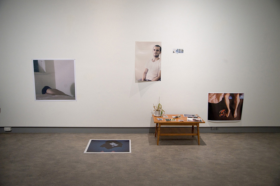 Clinton Hayden,  Untitled , 2011, Photographs, coffee table, plant