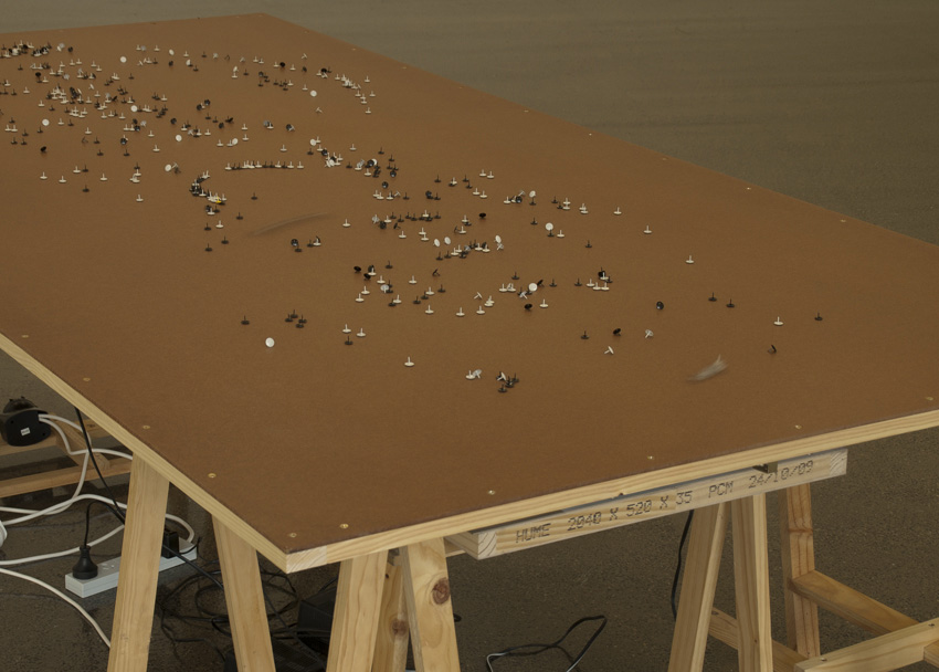 Arlo Mountford and Nick Selenitsch,  Movements  (detail), Installation
