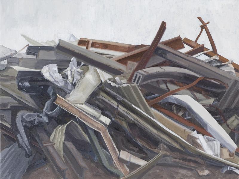 Nicole Slatter , Ruin , 2010, Oil on Canvas, 41 x 31 cm
