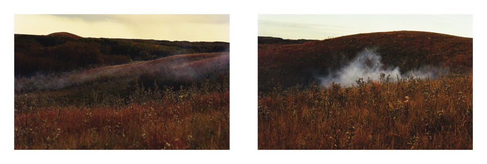 Tanya Harnett, S kull Mountainettes: The Gathering Place of the Smallpox,  2008, Digital photograph diptych