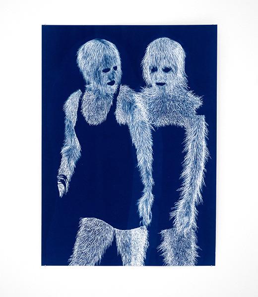 Fashion Plate 10 , 2011 Cyanotype on paper 36 x 27 cm