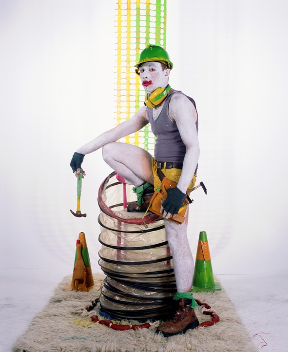 Boi Boi the Labourer , from series  The Sport and Fair Play of Aussie Rules,  Photographic Inkjet Print, 230cm x 210cm, 2008