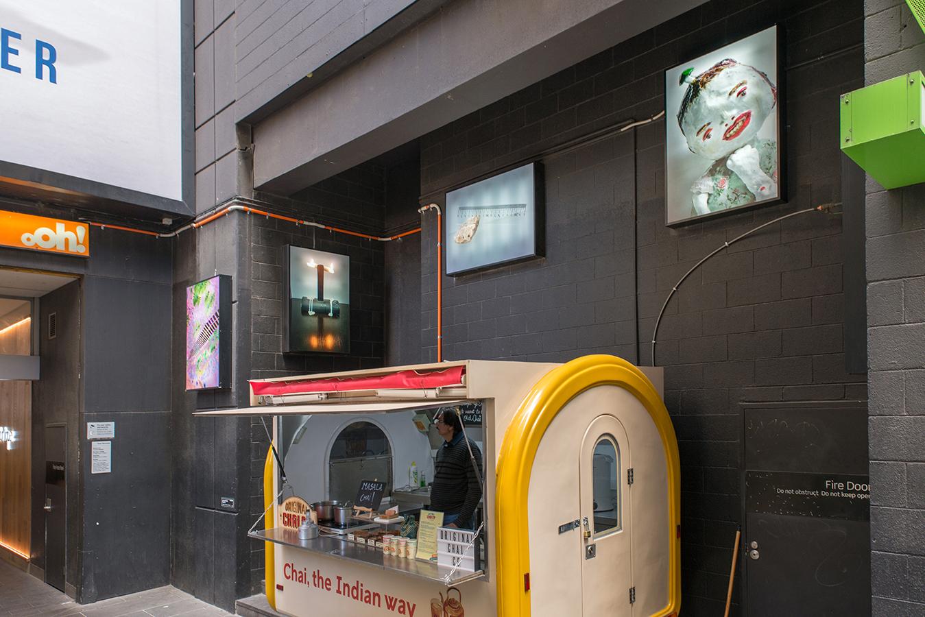 A visit from Hong Kong , 2017, Installation view Knox Place