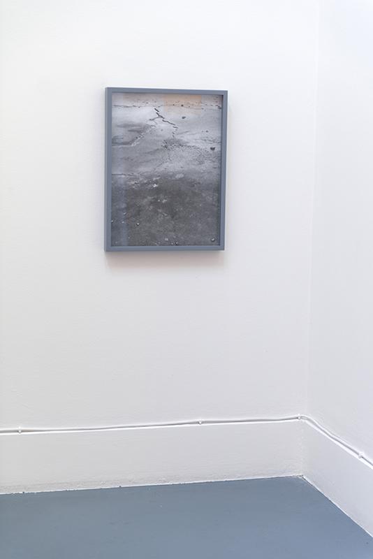 Lucie McIntosh,  Walking Backwards , 2018, Archival pigment print, painted frame, 40 x 30cm