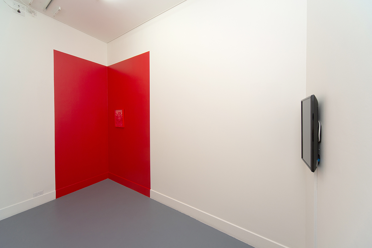 Lucie McIntosh,  Walking Backwards (Towards the Precipice) , 2018, installation view