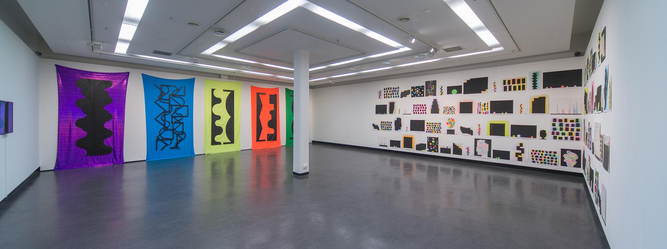 David Batchelor,  Psychogeometry 2 , 2018, installation view