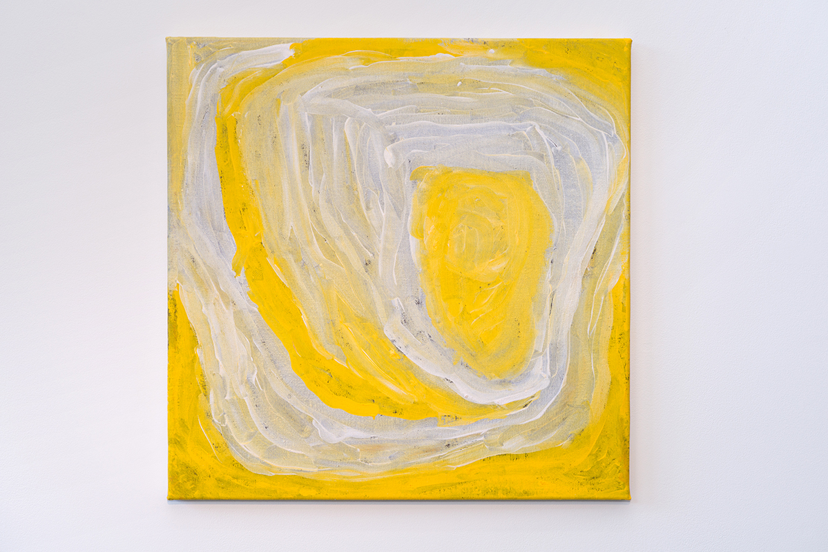 Nora Wompi   Untitled   Acrylic on linen, 61 x 61cm