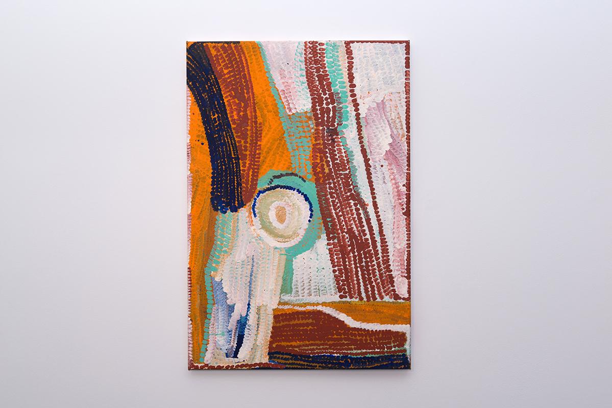 Bugai Whyoulter   Parnngurr area   Acrylic on canvas, 61 x 91cm