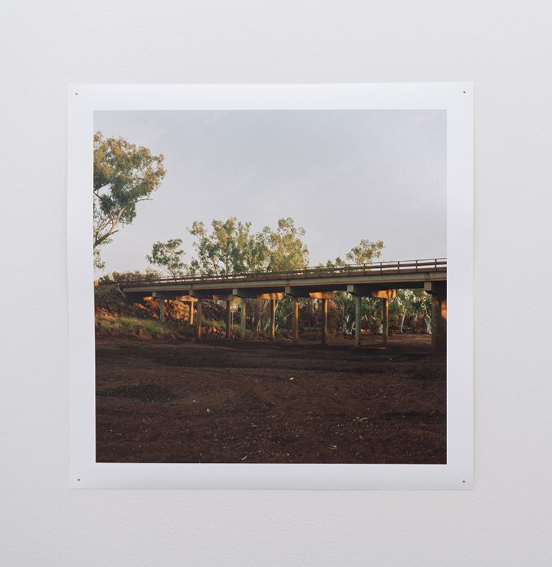 Chloe Bartram   Fortescue Bridge #1 , 2018  Inkjet print, 48 x 48cm