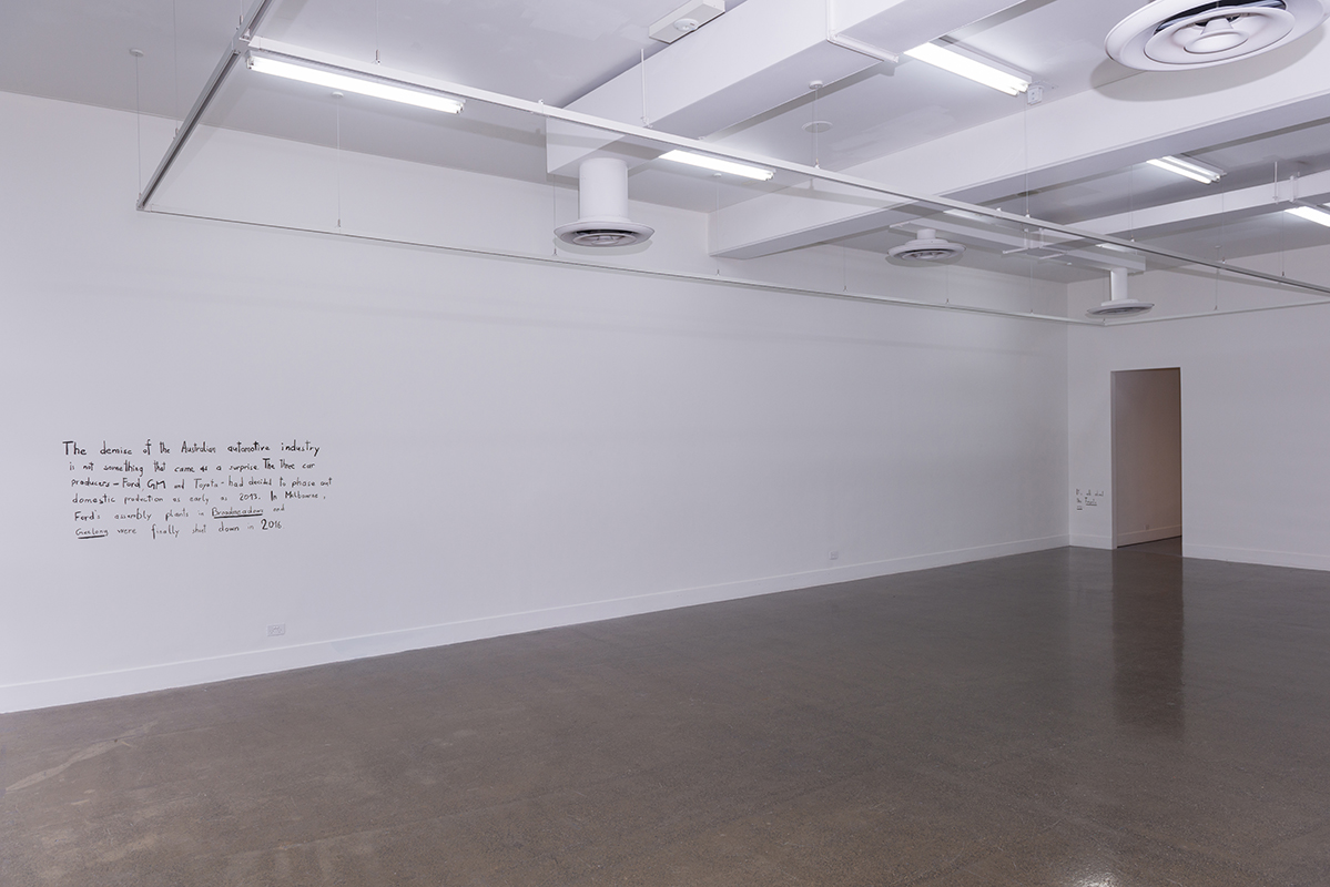 Siegmund Skalar,  Car Story , 2018, Installation view