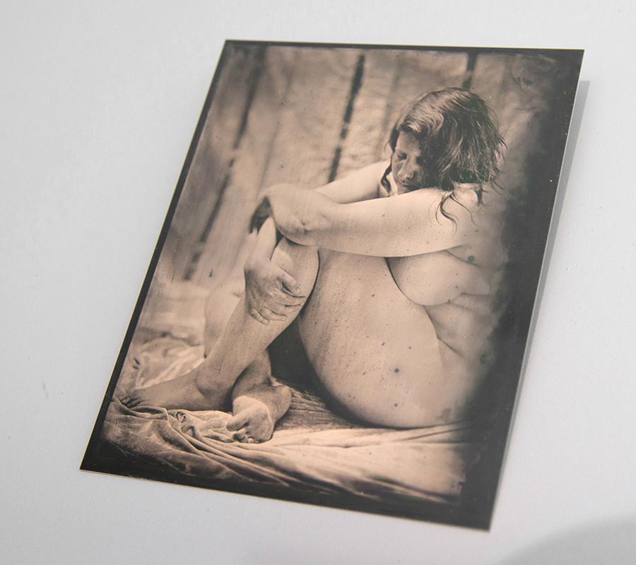 Sophie Caligari,  Untitled , 2017, tintype, photographs, 12.7 x 10.16 cm (each)