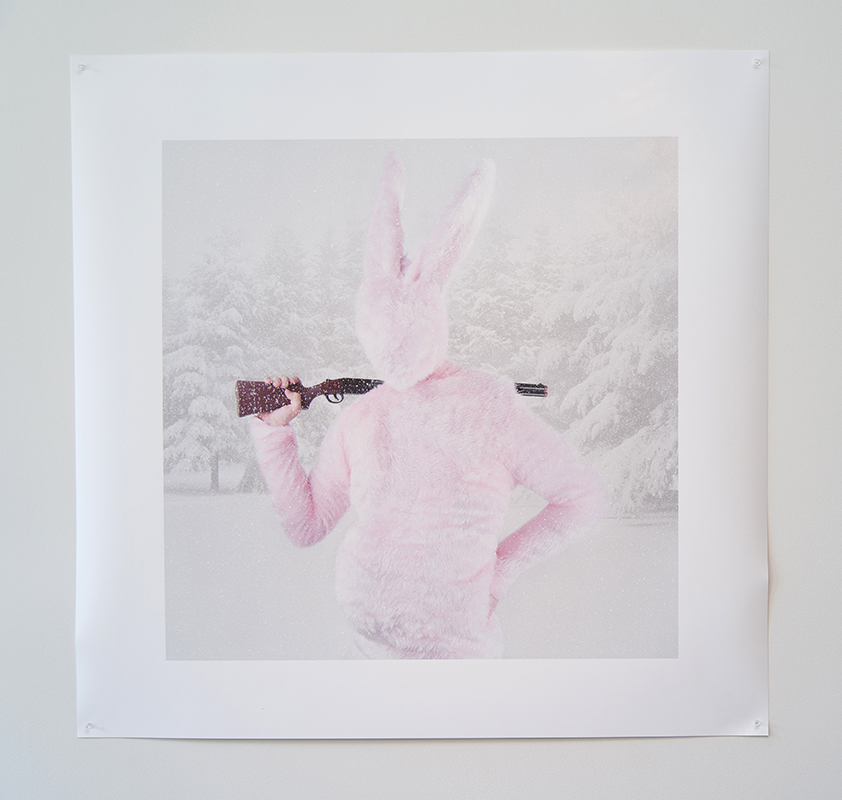 Gerwyn Davies,  Rabbit , 2014, photographic print, 110 x 110 cm