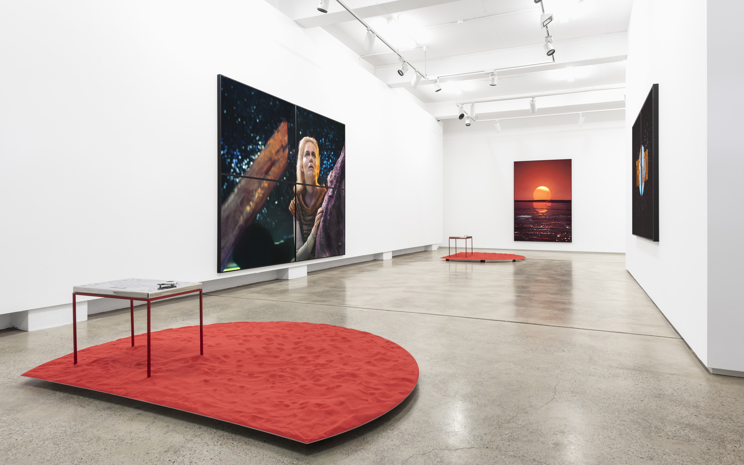 Darren Sylvester,  Out of Life,  2018, installation view