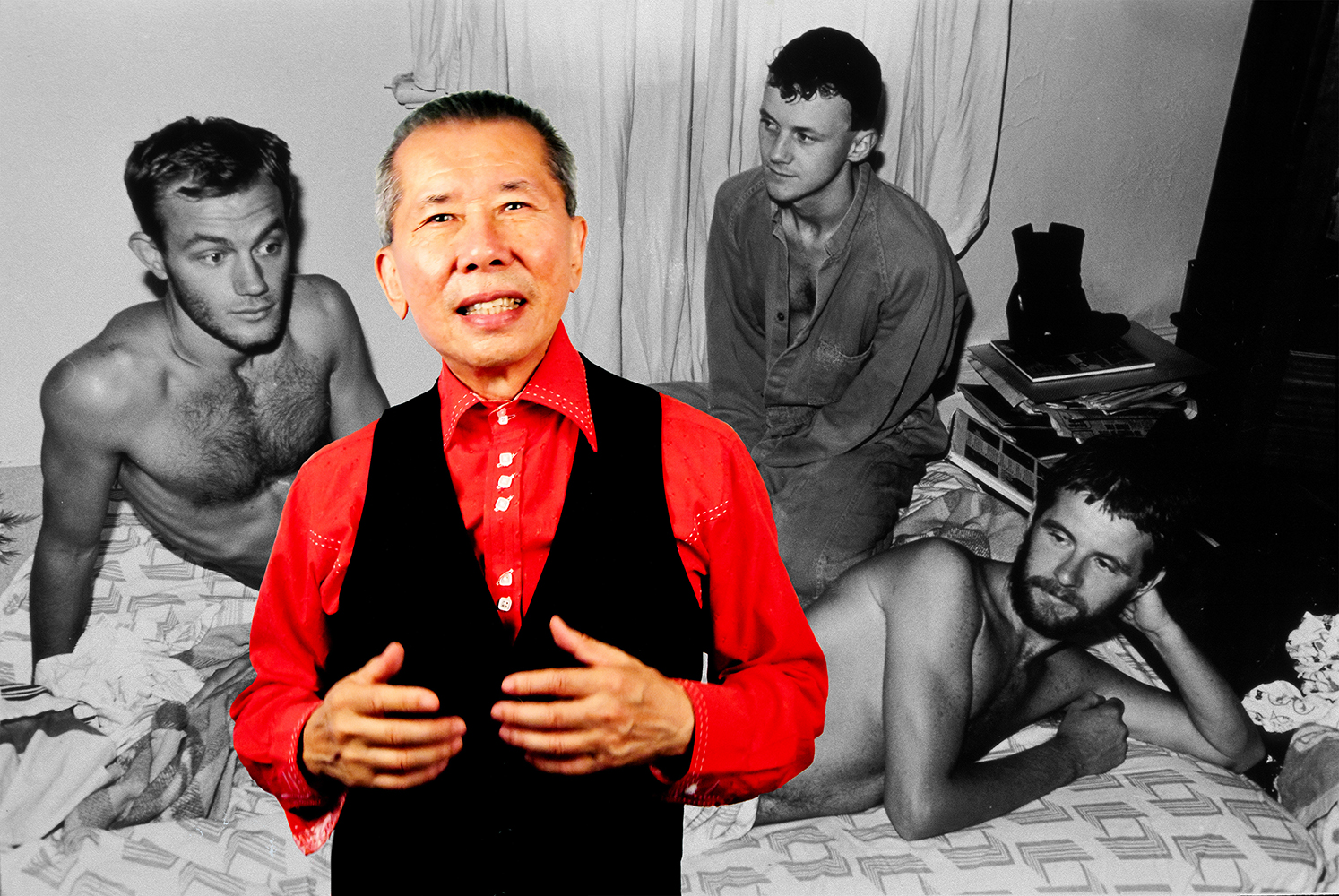 William Yang,  William at Ann Street gay household, Surry Hills, 1980.