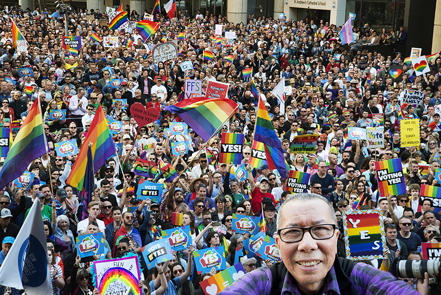William at Marriage Equality rally, 2018.