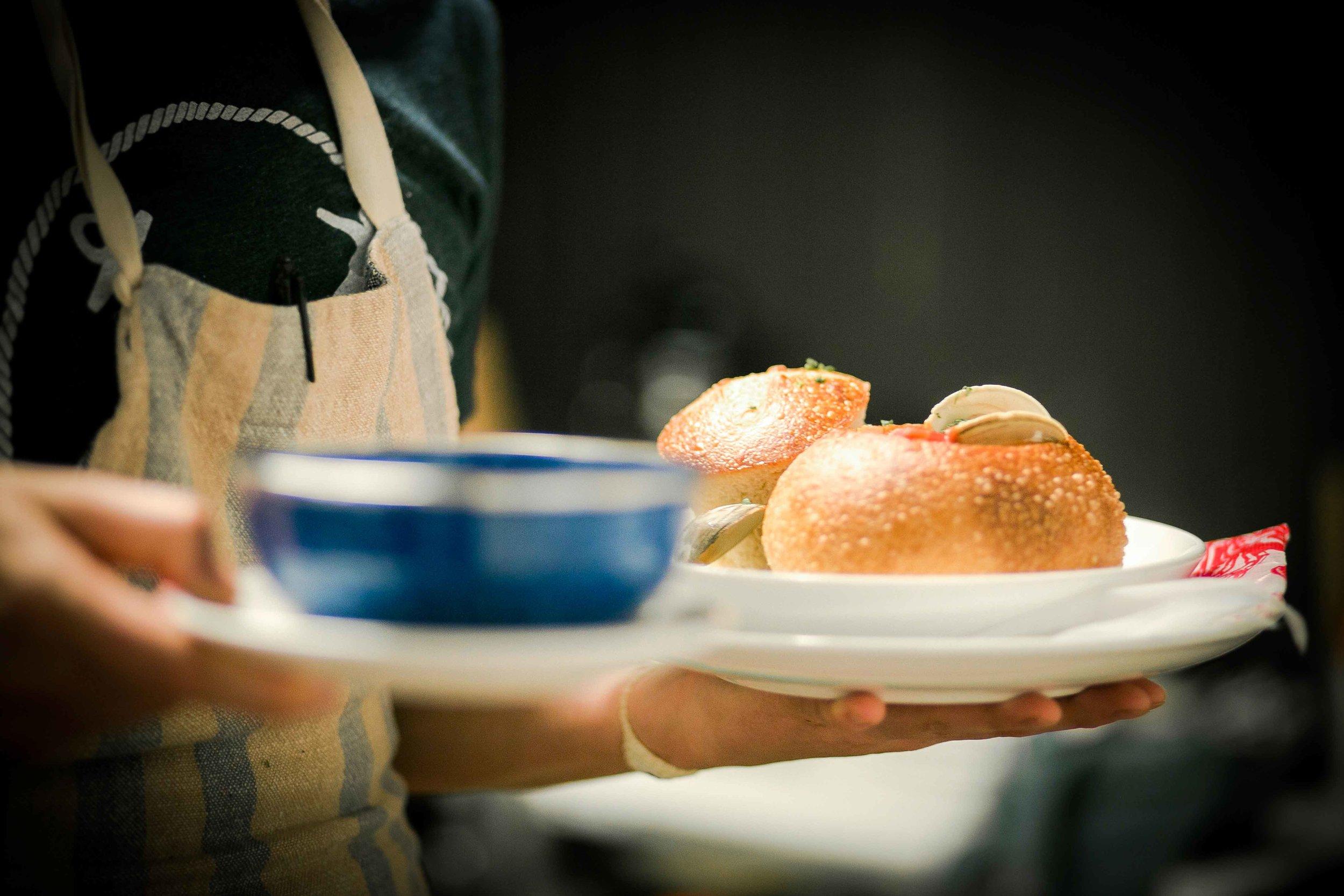 Chowder bread bowl.