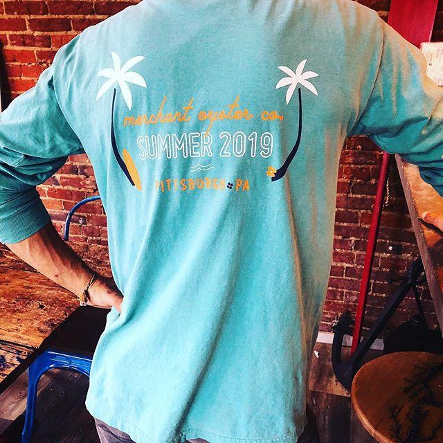 Come get your end of Summer Commemorative Long Sleeve  T-Shirt.  #merchantpgh #oysters #summer #summer2019 #pittsburghsummer