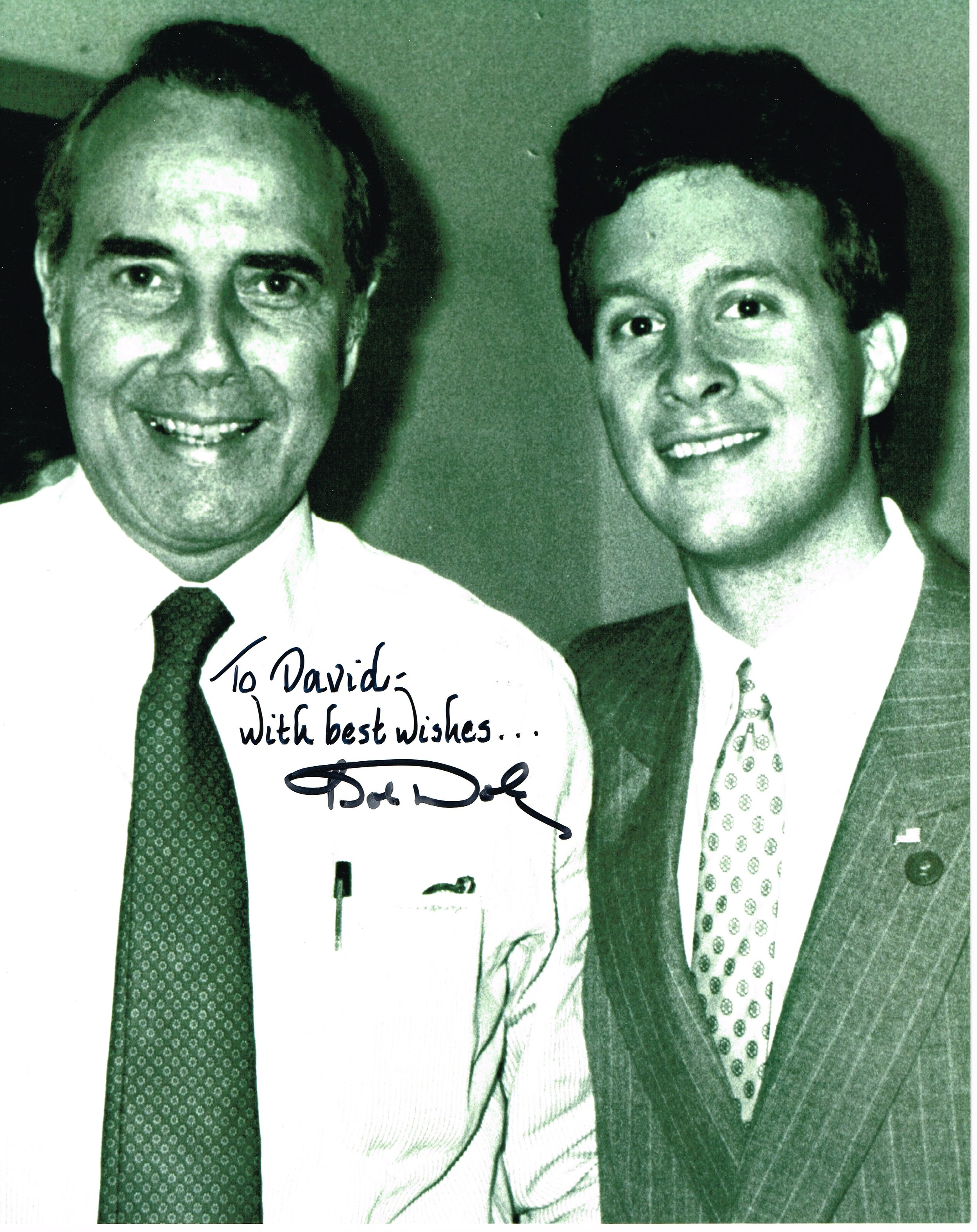 Senator and Presidential candidate Bob Dole and David Eastis