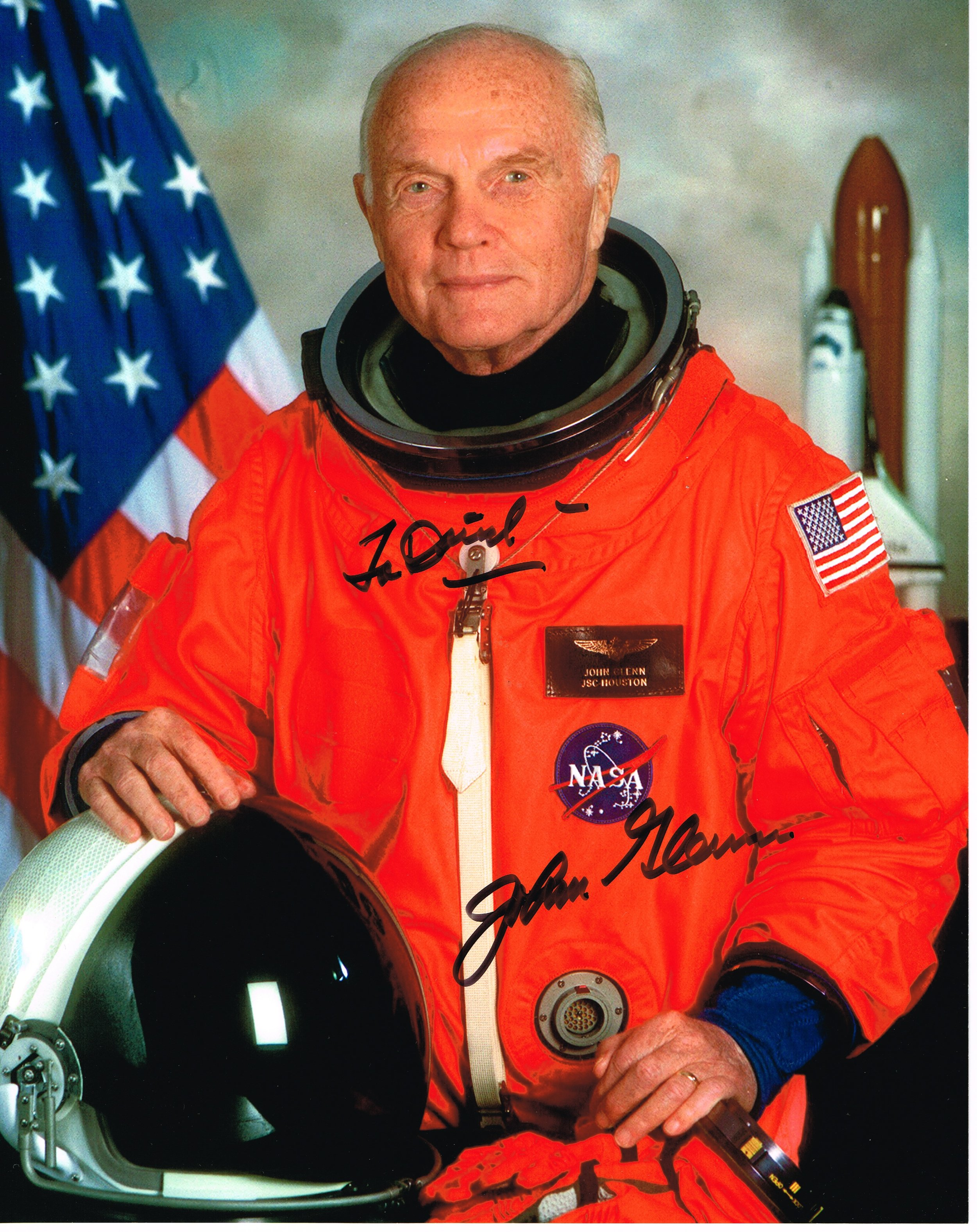 Senator and Astronaut John Glenn is oldest man in space at age 77