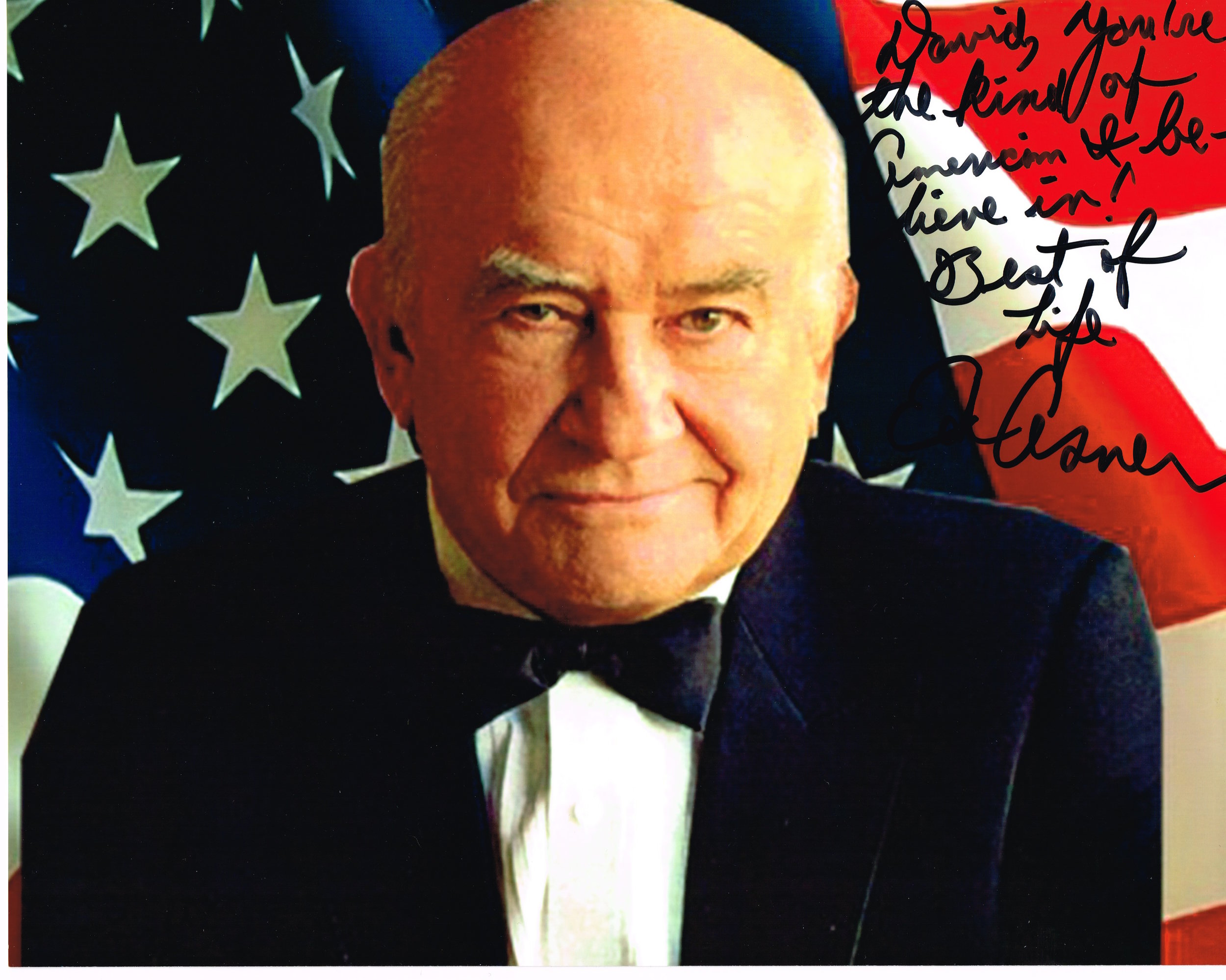 David, You are the kind of American I believe in. Ed Asner