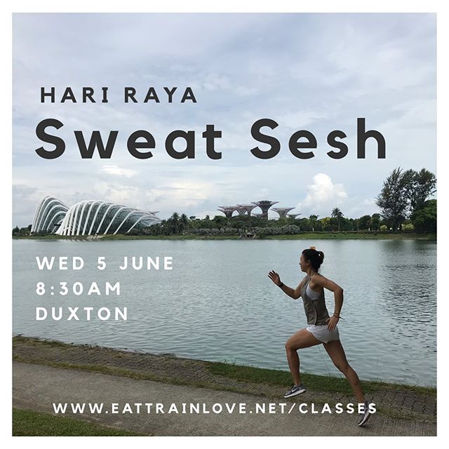 Just before the work week is up, a quick reminder that we have your fitness fix covered next Wednesday! Join @etlchezzabelle on Hari Raya morning 8:30am at our old Duxton spot for a great mix of strength, cardio and plyometrics.  Bookings are now open and we can grab a team brekkie after 🙌🏼 #thesweatlife #bootcamp #outdoorfitness