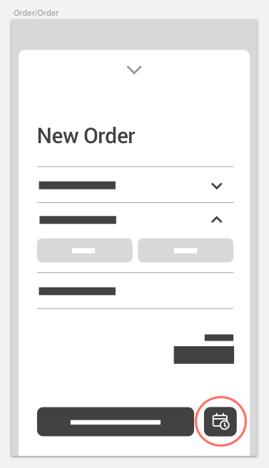 Users can select a later time to place their order.